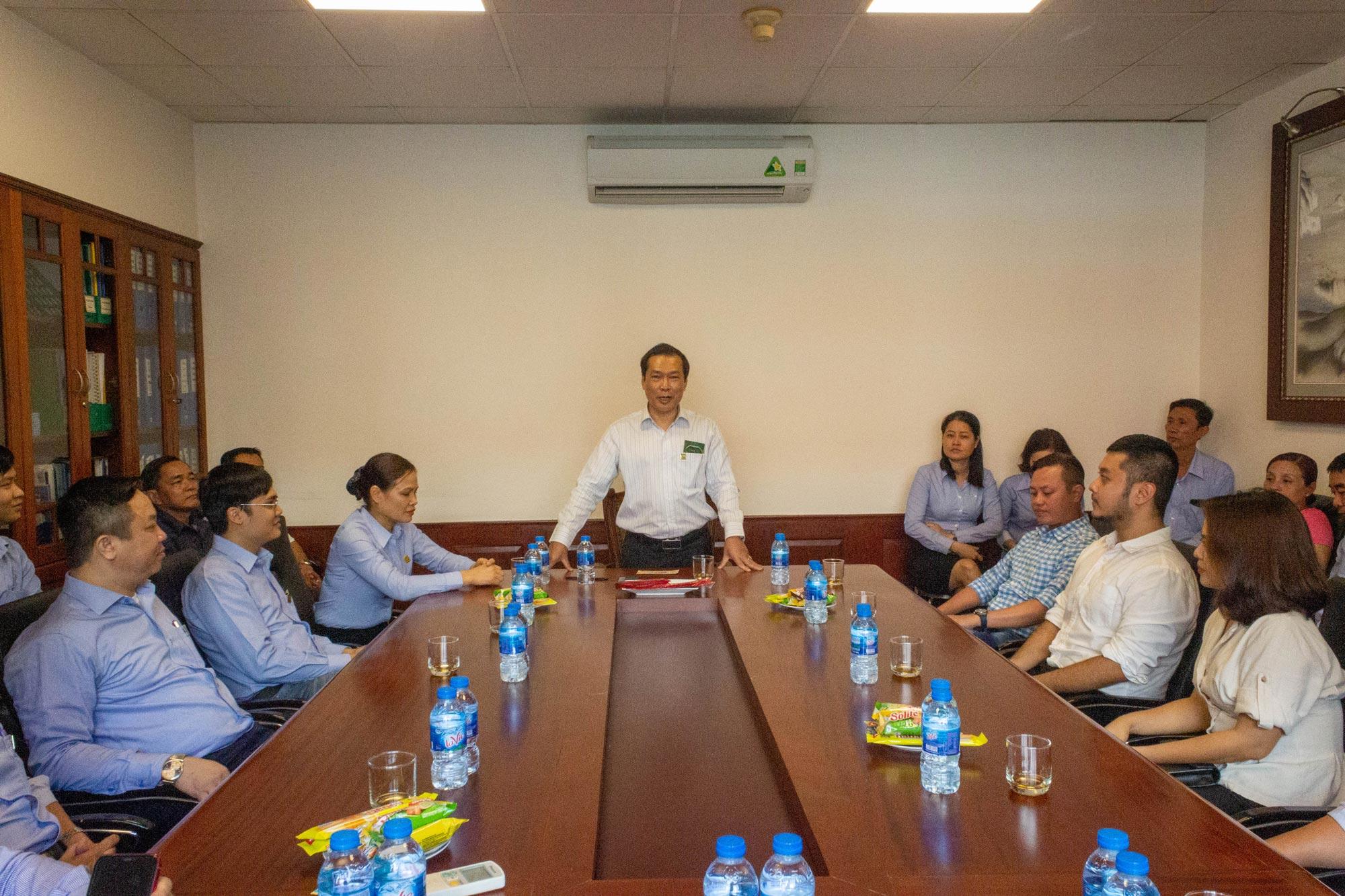 Ông Vũ Duy Hải - Tổng Giám Đốc Tập đoàn Vinacam phát biểu khai xuân 2020