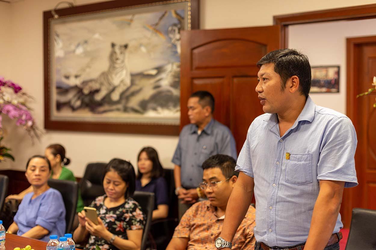 Anh Phạm Ngọc Thế - Chủ tịch Công đoàn Vinacam